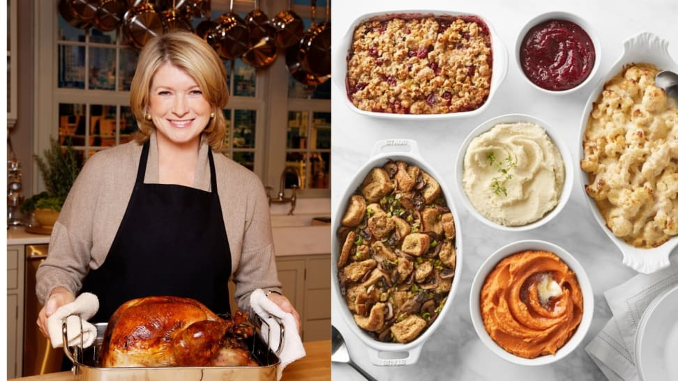 The Martha Stewart Complete Thanksgiving Dinner from Williams Sonoma includes a turkey and six sides.