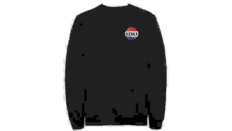 The best gifts for men: Loki Campaign Button Pullover Sweatshirt
