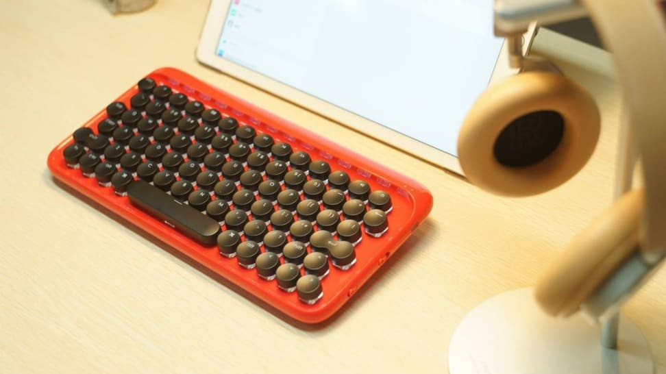 This beautiful keyboard makes you feel like you're working with a classic typewriter.