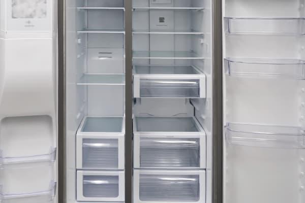 fridge and freezer interior