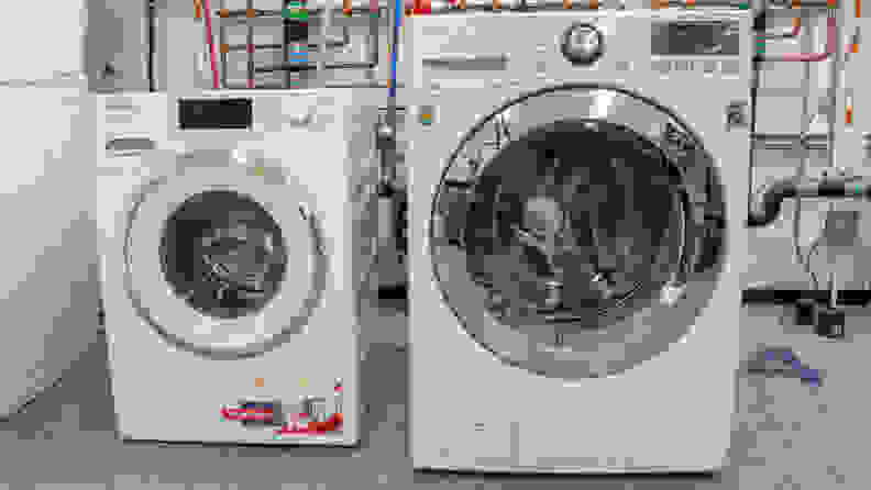 Compact-Miele-washer-compared-to-standard-front-loader
