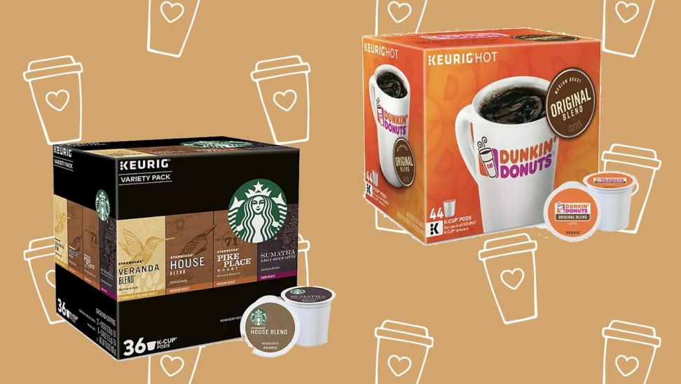 You can get tons of K-Cups from Starbucks, Dunkin' and more at up to 50% off