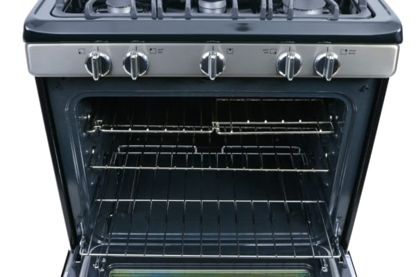 The oven cavity offers 5.0 cu. ft. of capacity.