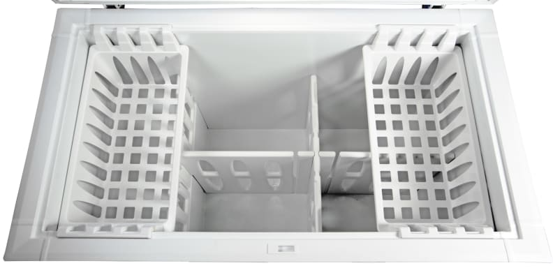 Two sliding buckets up top help keep smaller items from falling deep into the Kenmore 16542.