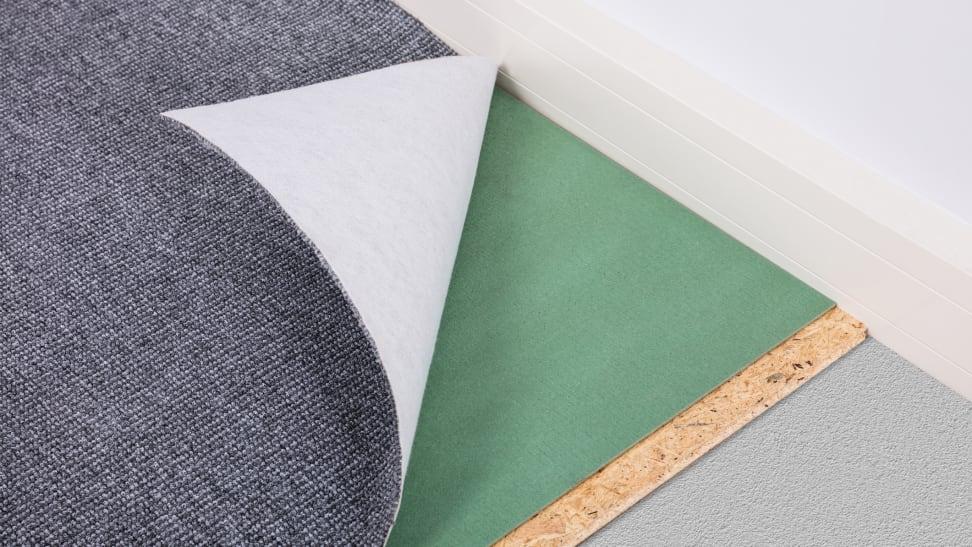 A rug pad under a rug