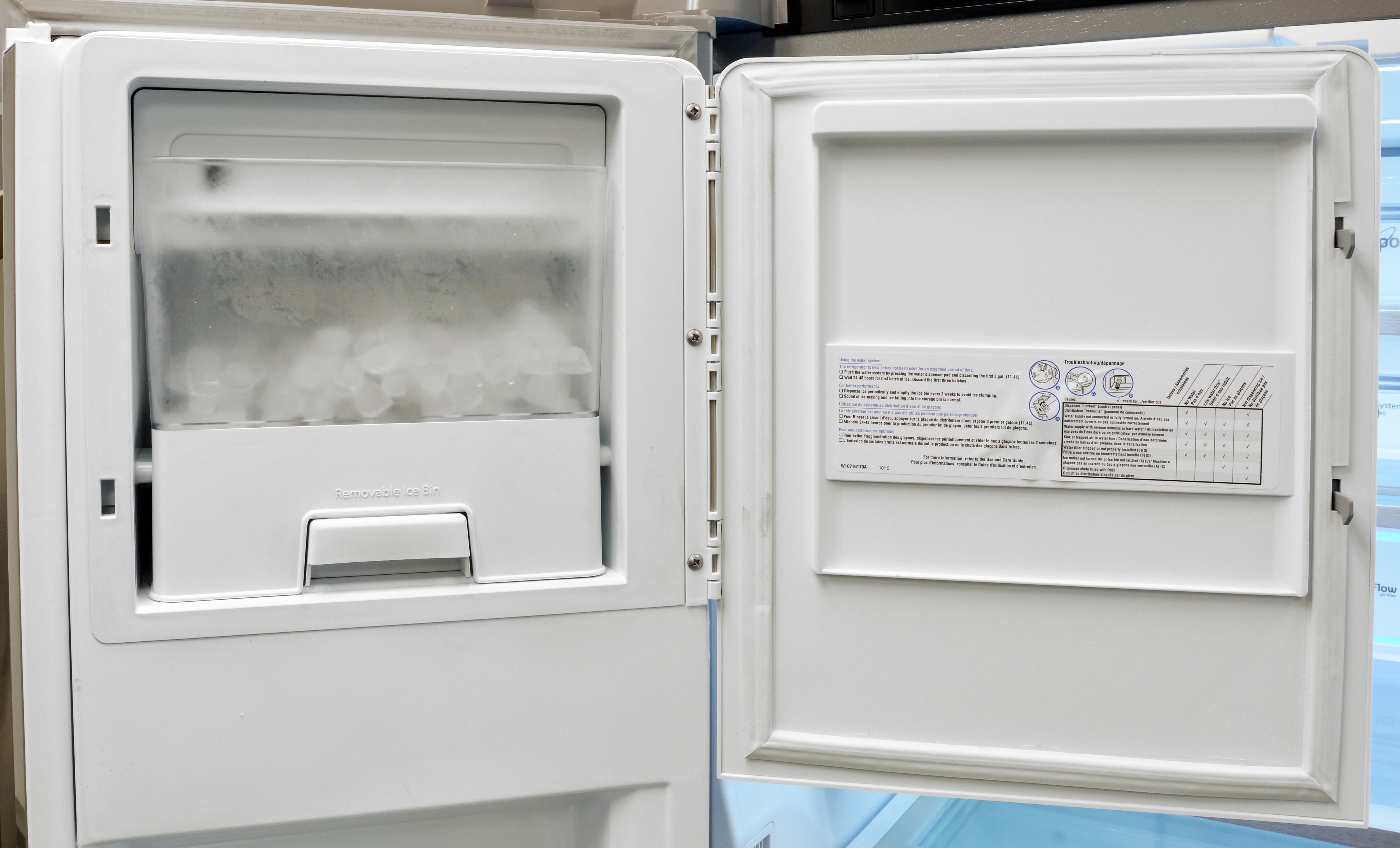 The ice maker that fuels the dispenser is easy to remove should you need some additional bulk ice.