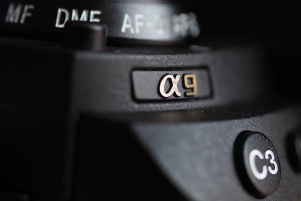 The Sony Alpha A9's logo befits a premium camera.