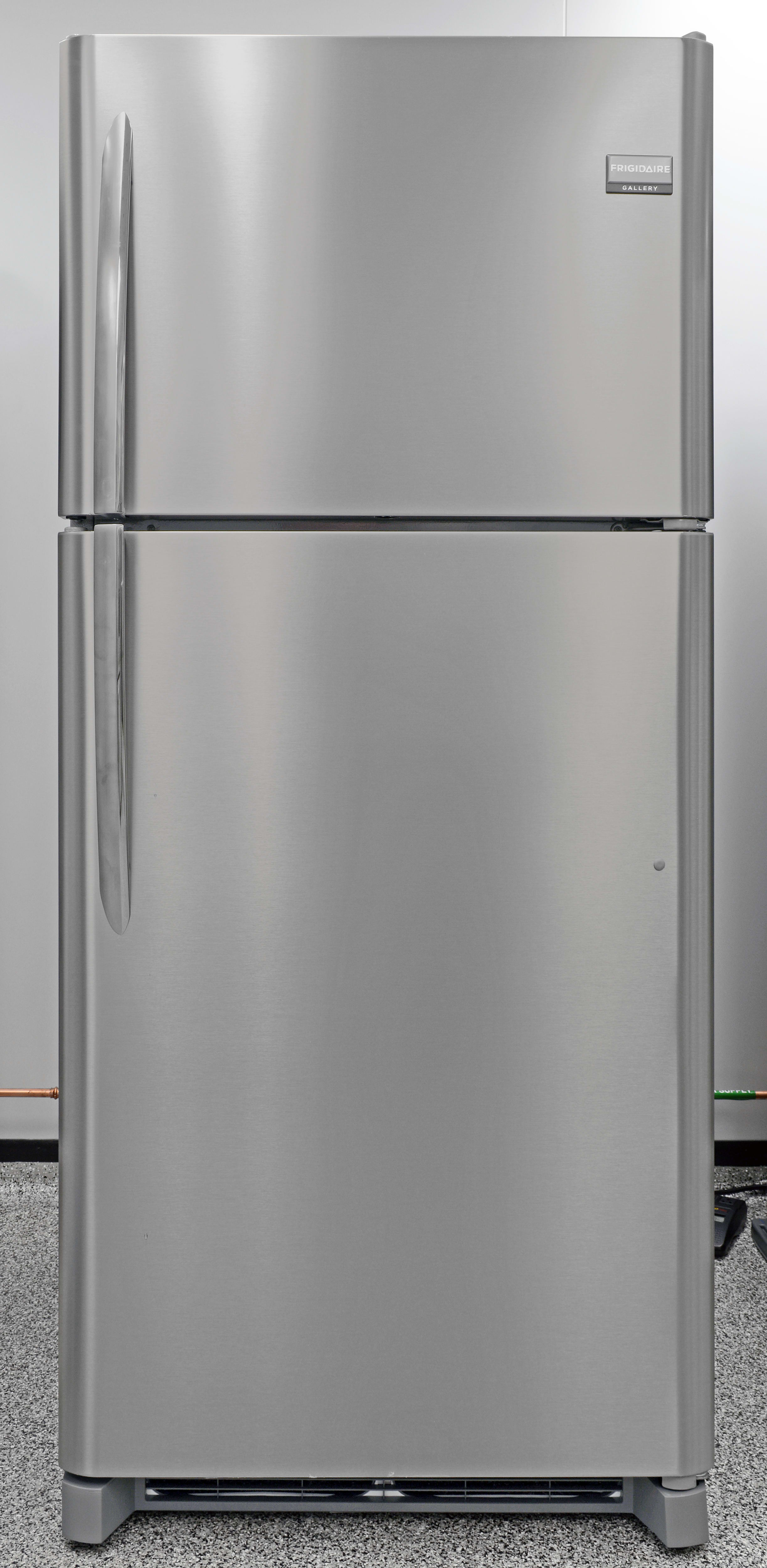 The Frigidaire Gallery FGTR1845QF is a great stainless top freezer for an affordable price.