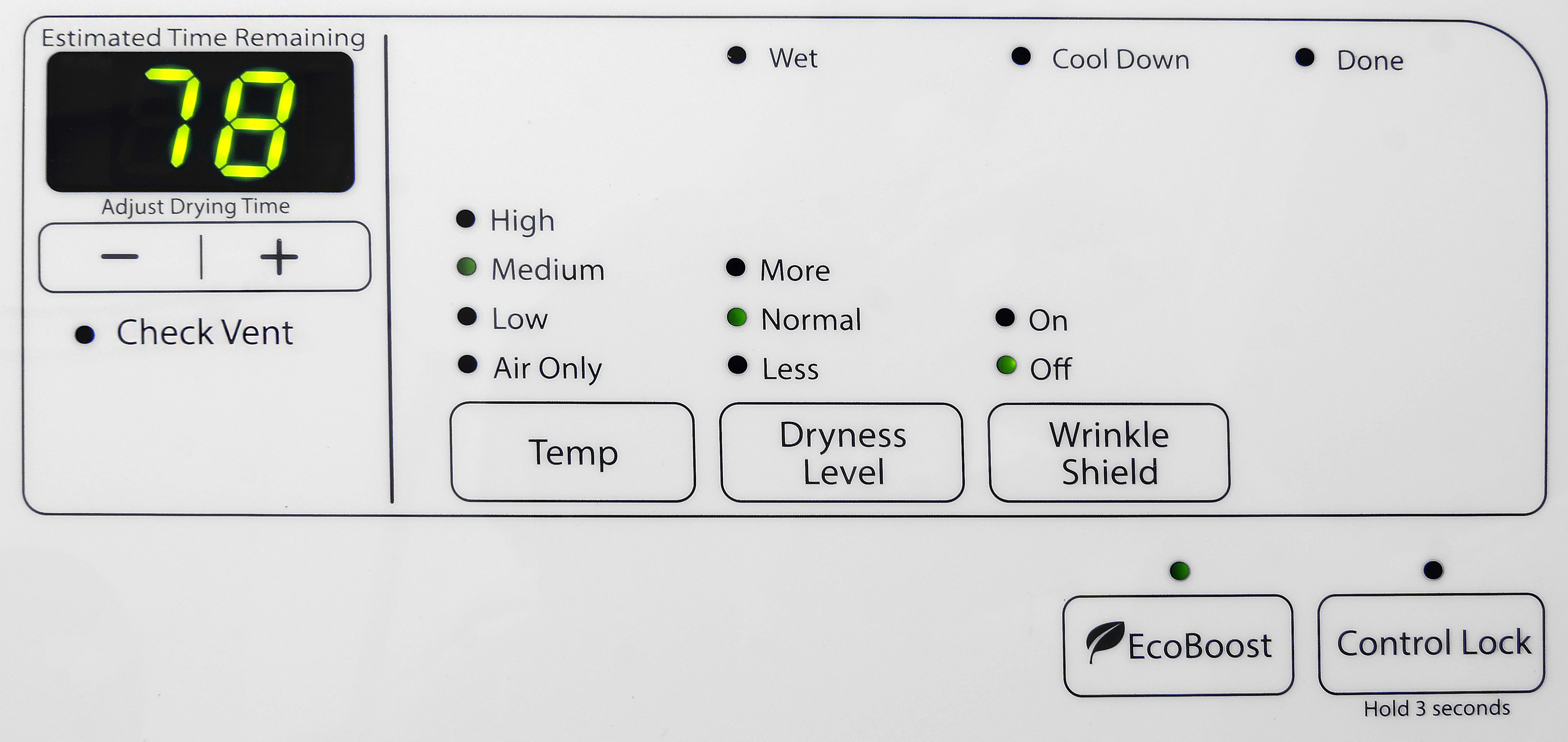 If you like simple appliances with a low learning curve, the Whirlpool Duet WED72HEDW might be a good dryer for you.