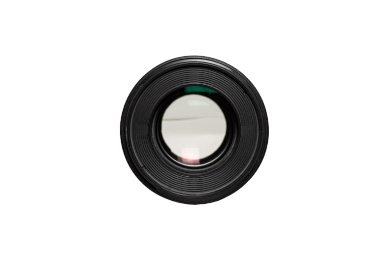 A front view of the EF 100mm f/2.8L Macro IS USM.