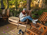 hot cider outdoor patio ideas in fall