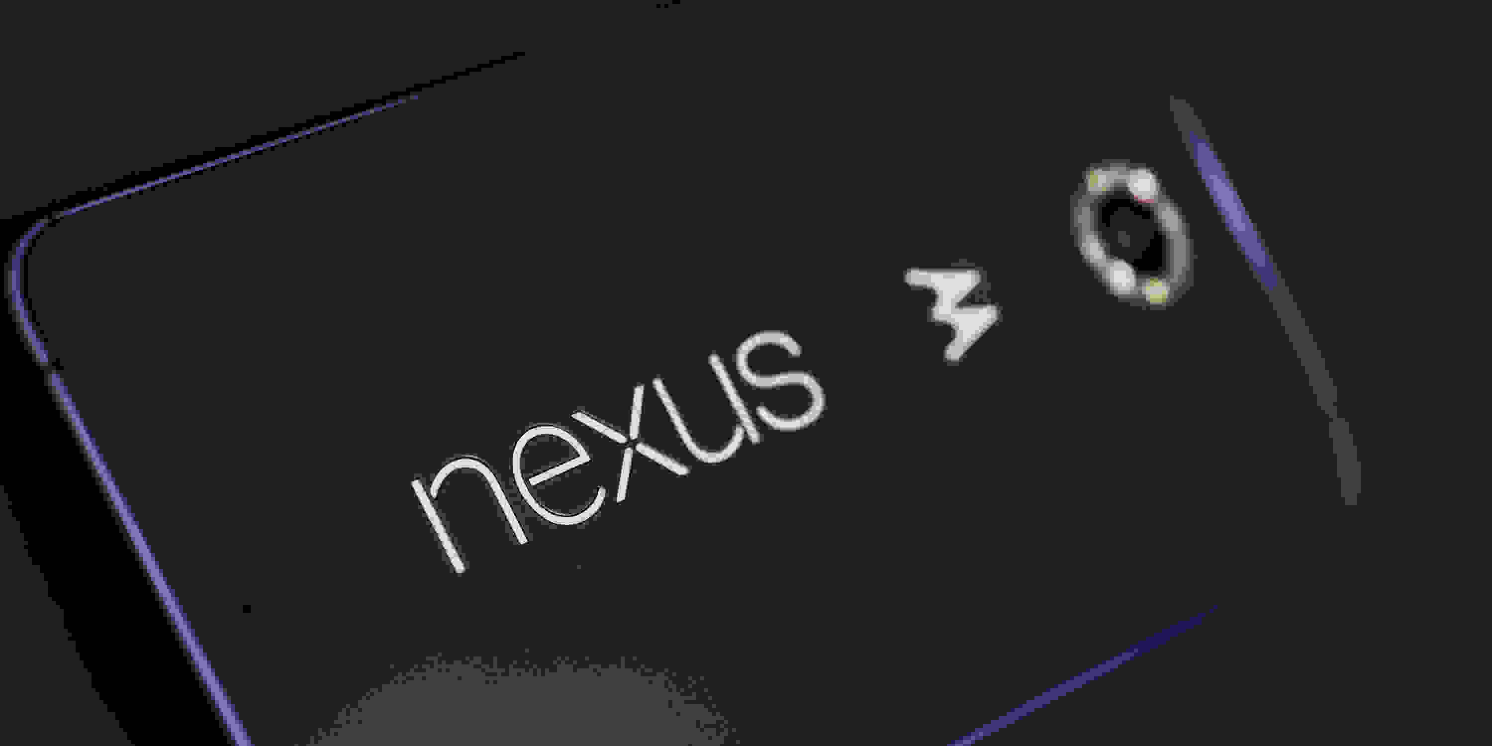 A photo of the Google Nexus 6's logo.