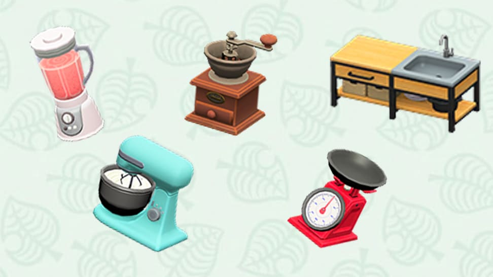 Animal crossing kitchen items
