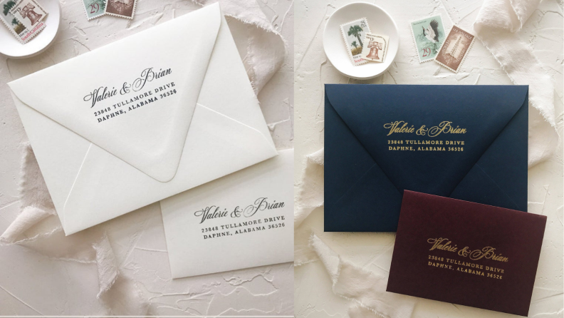 Best engagement gifts: Custom stamp