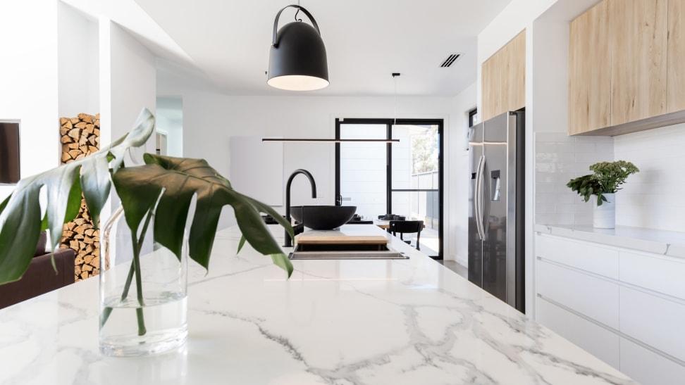 A contemporary kitchen