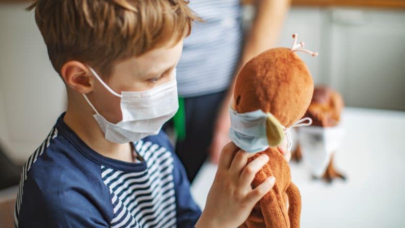 Mask on a stuffy