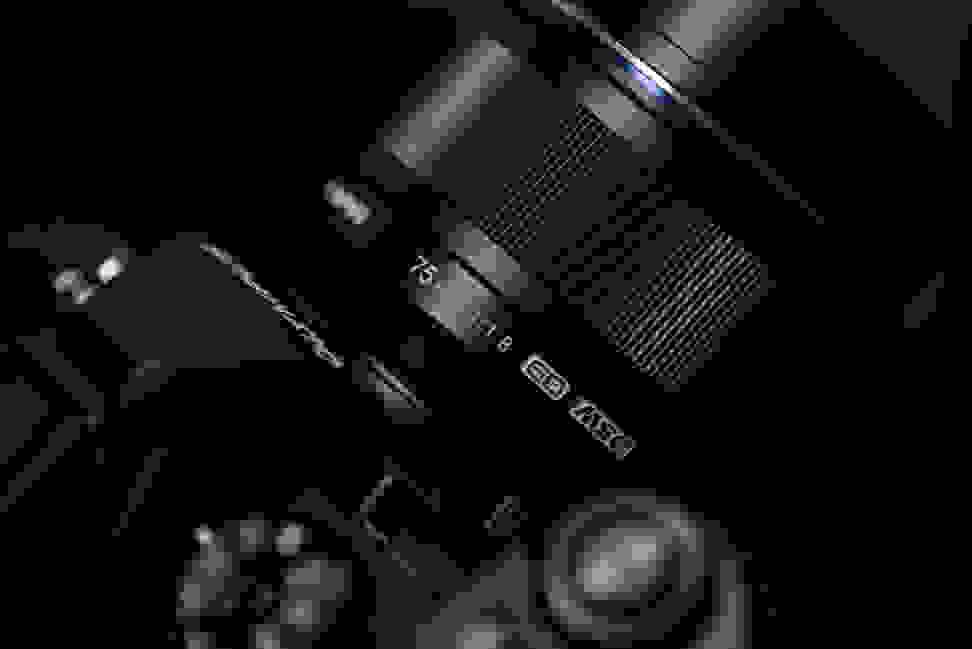 Olympus 75mm f/1.8 — Mounted