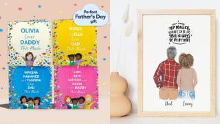 Left: Custom Storybook; Right: Custom Father-Daughter Portrait