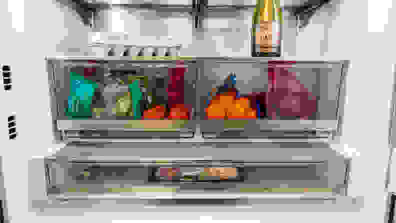 LG LRFDC2406S French-Door Refrigerator Review—Drawers