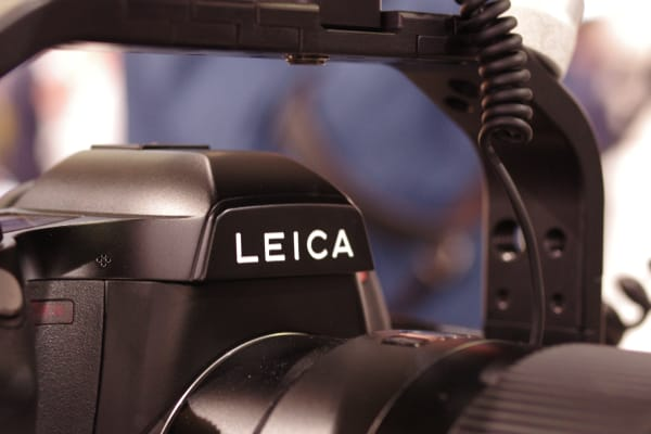 It's odd to see a Leica S fully rigged up as a cinema camera, but it's a Leica nonetheless.