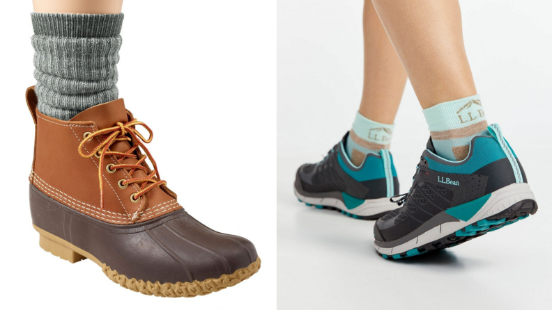 boot and sock, shoes and socks