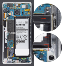 Samsung Note 7 battery pocket