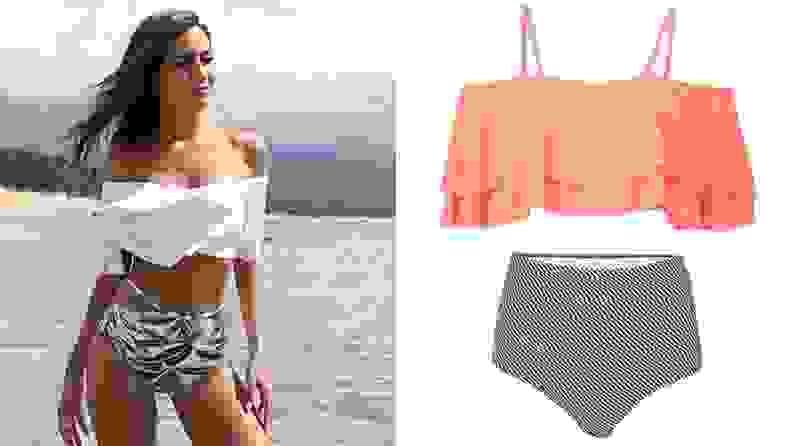 ruffle top bikini