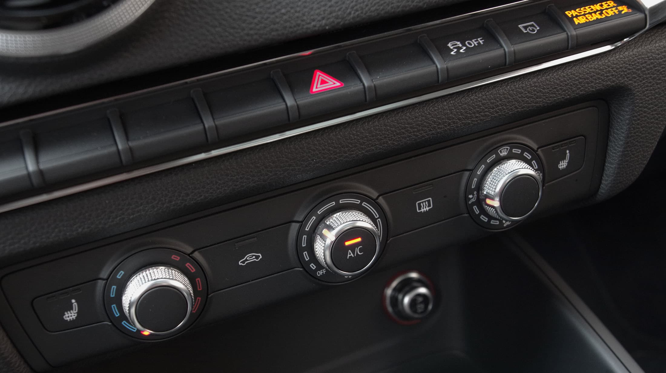 2015 Audi A3 manual climate controls