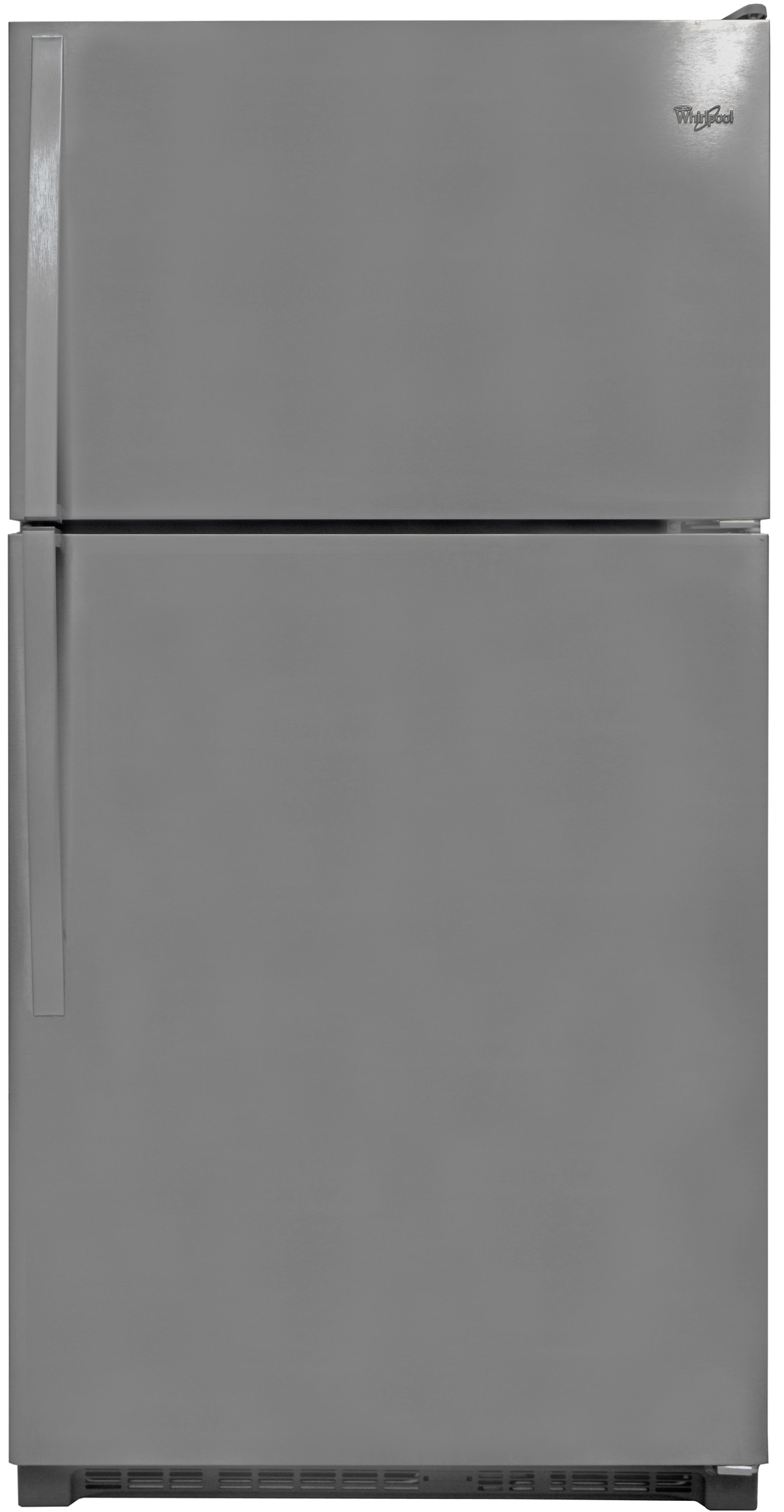 The Whirlpool WRT311FZDM's monochromatic stainless exterior is only the tip of this fridge's style iceberg.
