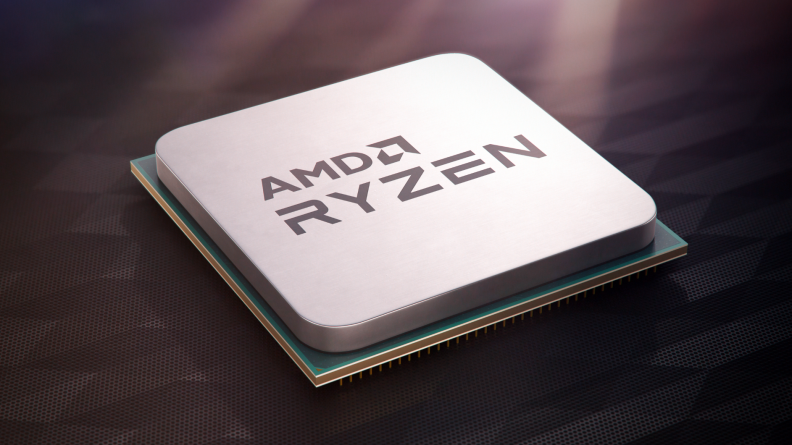 A mockup of AMD's Ryzen 3100 chip, one of the company's budget processors.