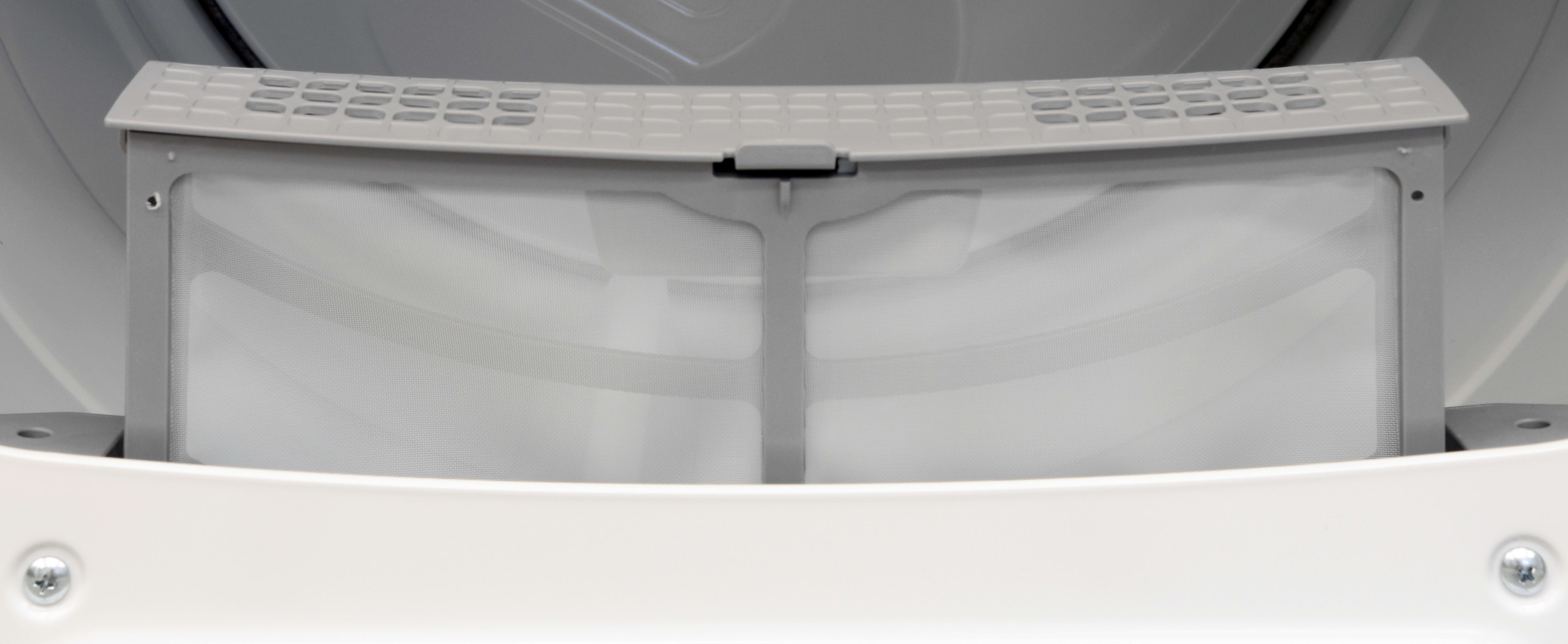 The lint trap used in the Whirlpool Cabrio WED8000DW is a fold-over unit similar to what we'd see on compact machines, not a traditional screen.