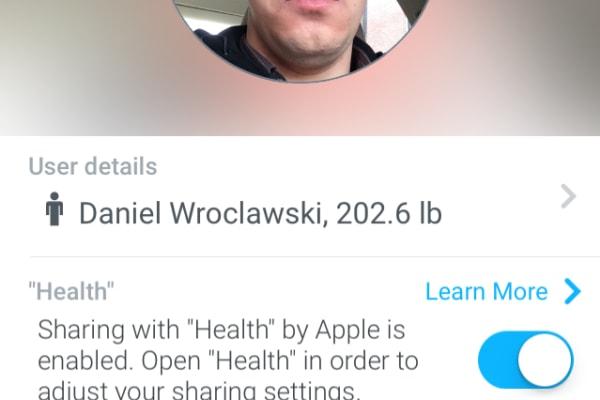 The Profile screen