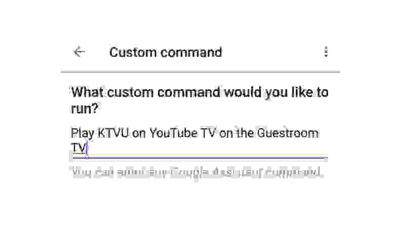 Google Home Custom Commands