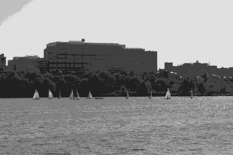 A sample photo of sailboats taken by the Panasonic Lumix DSC-ZS40.