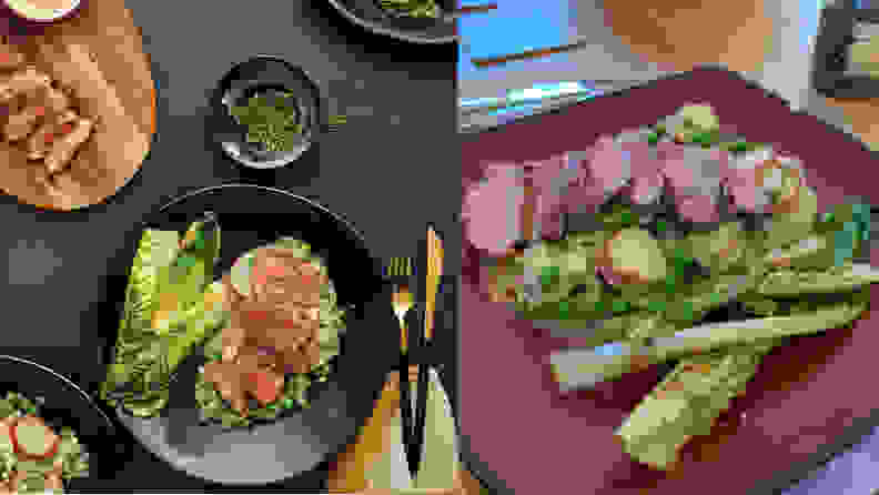 Amazon Meal Kit Steak Dinner: PR Photo vs. Actual Photo