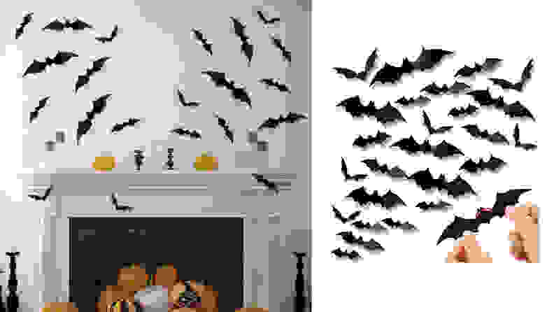 60PCS Halloween 3D Bats Decoration