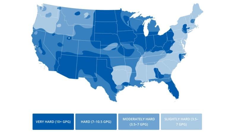 US-hard-water-map