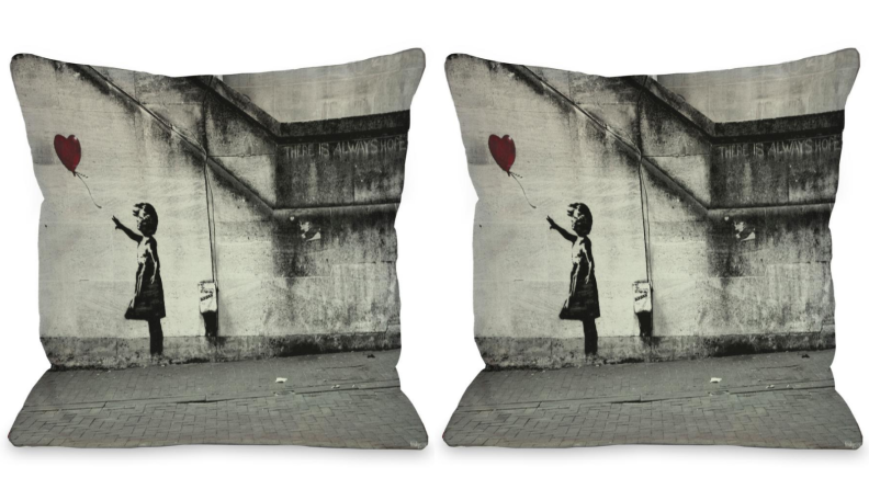 Banksy pillow