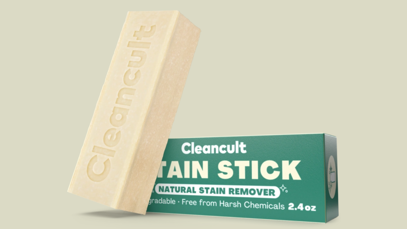 CleanCult scrubbing bar against its package.