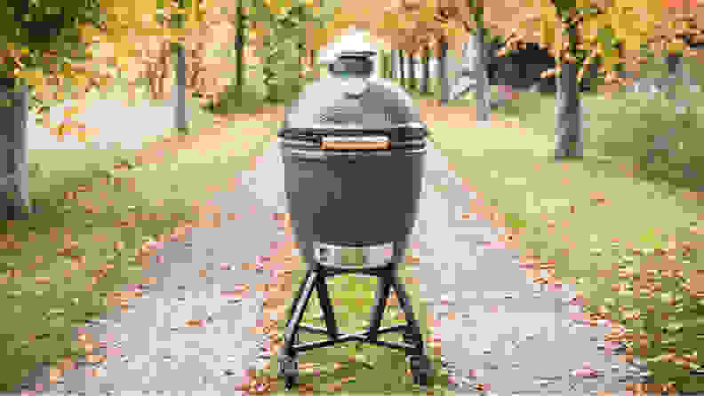 Big Green Egg in fall