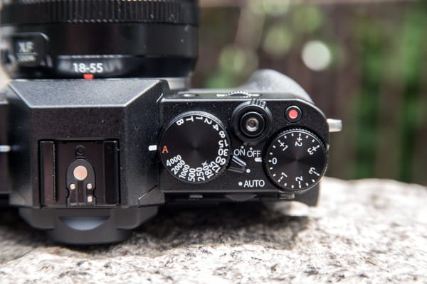 The top controls on the X-T10 is where most of your shooting settings are.