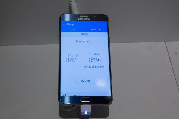 Samsung Smart Home App Preheating