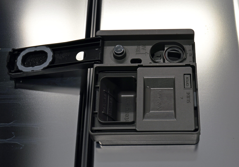 Kenmore Elite 14763 rinse aid and detergent dispenser