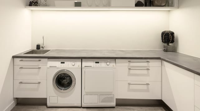 Laundry in kitchen