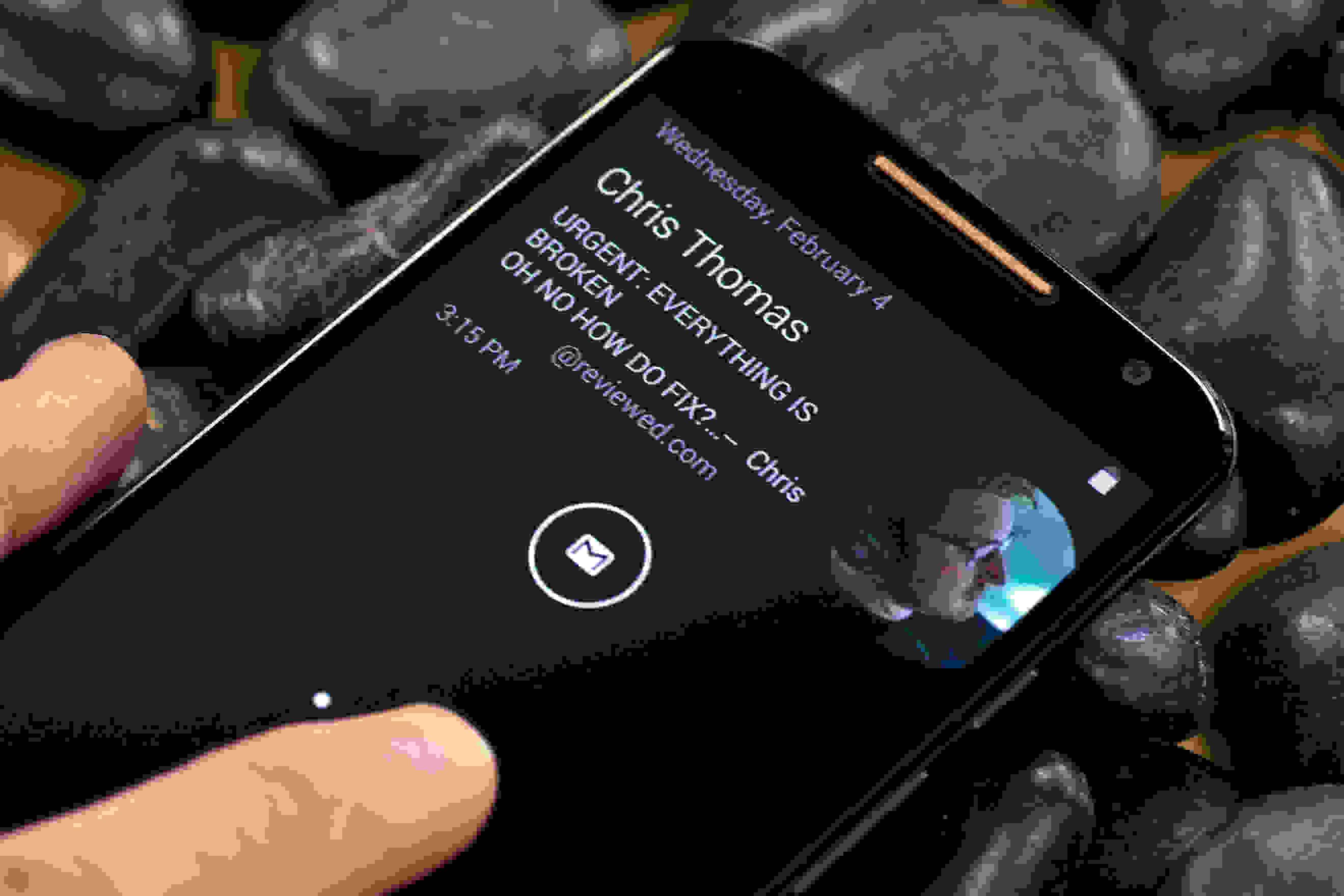 Active notifications on the Motorola Moto X (2014 edition)