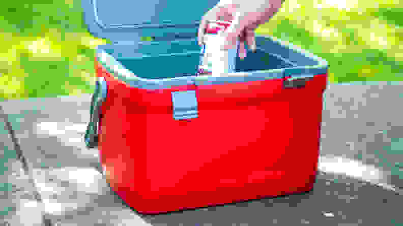 The Stanley Adventure Cooler maintained cool temperatures for over 24 hours.