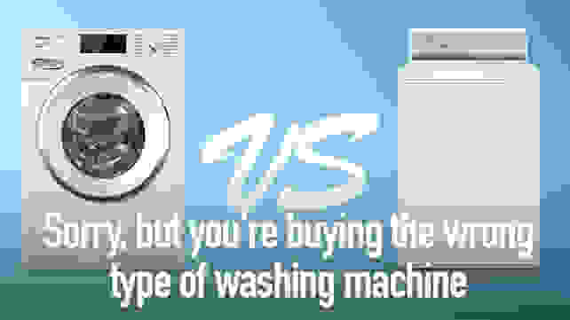 Sorry but you're buying the wrong type of washing machine