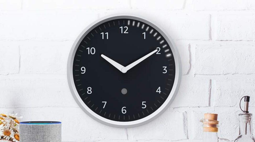 Amazon's Echo Wall Clock  is a companion device for Echo speakers that can help set visual timers and reminders.