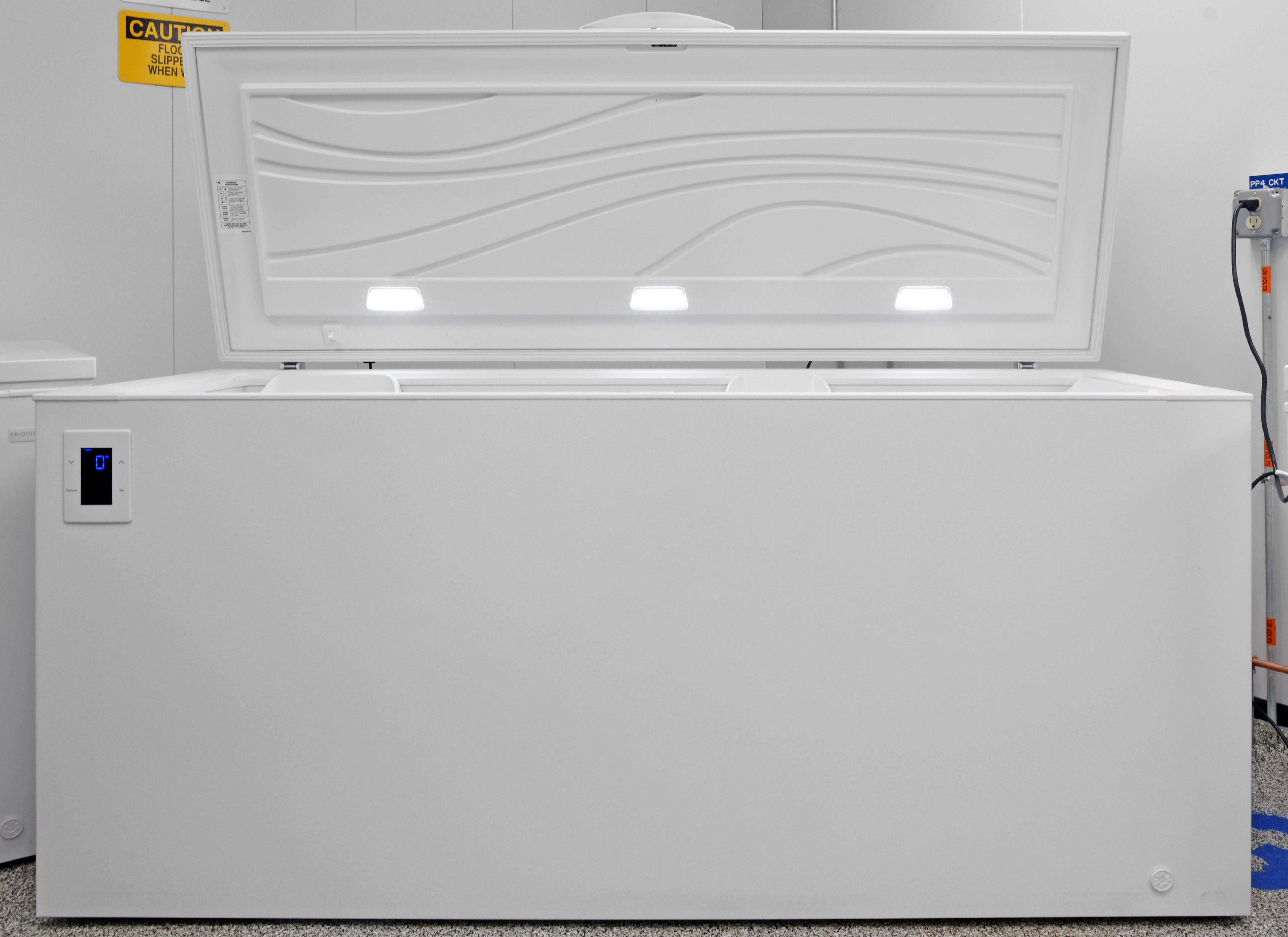 The Kenmore Elite 17202 chest freezer is so wide it includes three internal LED lights.