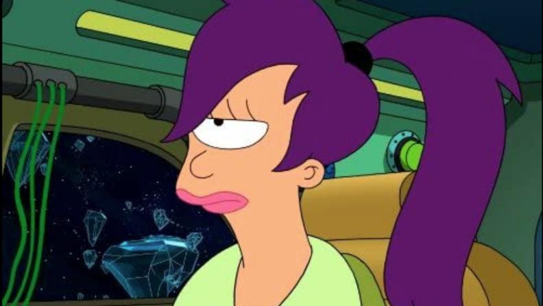 A still from 'Futurama' of Leela.